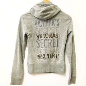 VS Supermodel essentials gray full zip hoodie XS